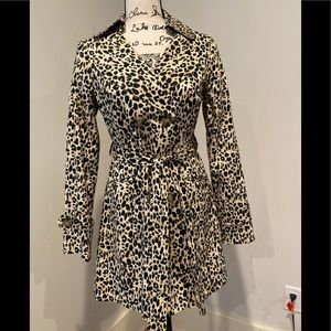 Forever 21 leopard trench size large